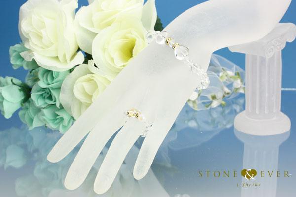 【誕生石4月】天然石ブレスレット&リング『水晶』