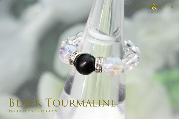 【誕生石10月】天然石リング『黒トルマリン』