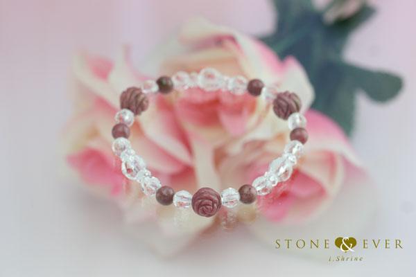 【恋愛運アップ】 天然石薔薇ブレスレット 『ロードナイト』
