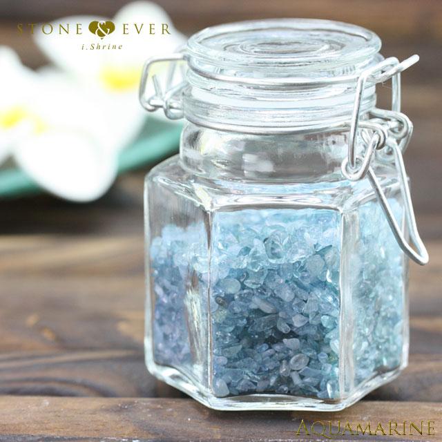 【風水インテリア】 さざれ石(天然石・小粒) 『アクアマリン』 ❤中瓶❤