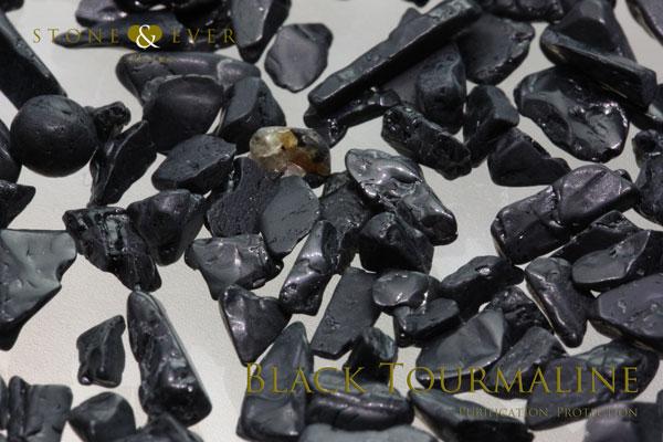 【風水インテリア】 さざれ石(天然石・小粒) 『黒トルマリン』