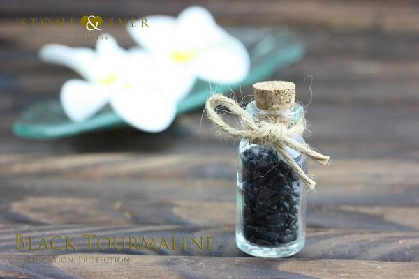 【風水インテリア】 さざれ石(天然石・小粒) 『黒トルマリン』 ❤小瓶❤