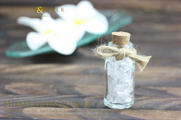 【風水インテリア】 さざれ石(天然石・小粒) 『ヒマラヤ水晶』 ❤小瓶❤