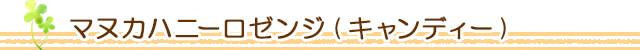 生活の木 マヌカハニーロゼンジ(キャンディー)