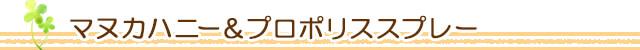 生活の木 マヌカハニー&プロポリススプレー